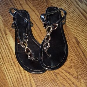 Size 6 1/2 brown sandals